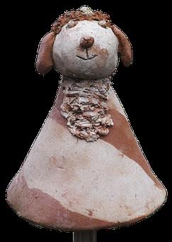 Sheep, Figure, Clay Figure, Weel, Ceramic, Sculpture