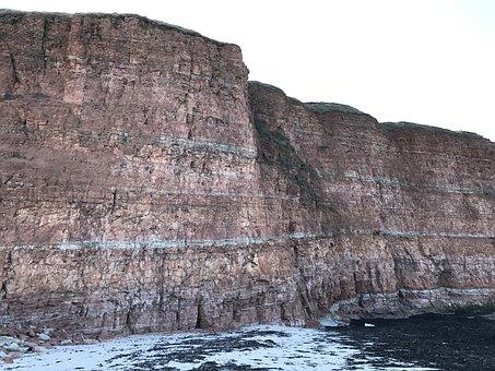 Helgoland, Cliff, Sea Island, North Sea, Sea, Nature