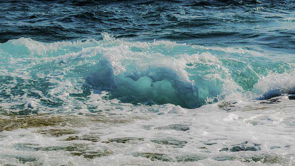 Wave, Transparent, Smashing, Foam, Spray, Sea, Nature