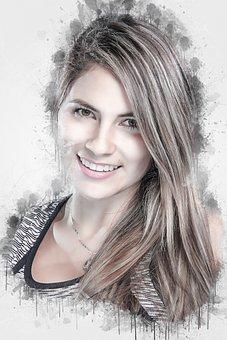Beautiful, Portrait, Smiling, Smile, Hair, Beauty