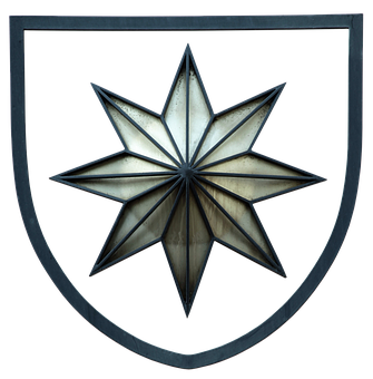 Coat Of Arms, Star, Star Of Waldeck, Metal