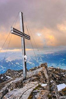 Cross, Mountain, Mountaineering, Summit, Summit Cross