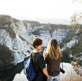 Mountain, Freedom, Tranquil Scene, Girlfriends, Travel