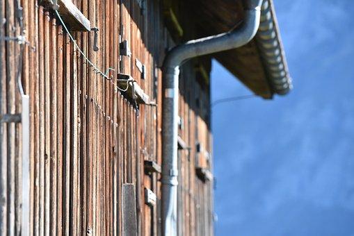 Alpine Hut, Wooden Wall, Wall Tiling, Log Cabin