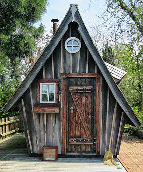 Vacation, Hut, Witch's House, Log Cabin, Rustic