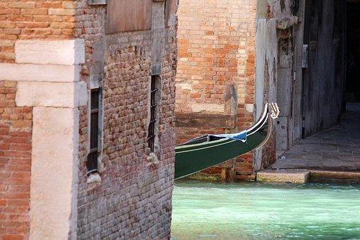 Venice, Italy, Gondola, Boat, Channel, Journey, Boats