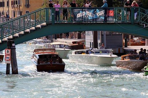 Venice, Italy, Boat, Venezia, Boats, Channel