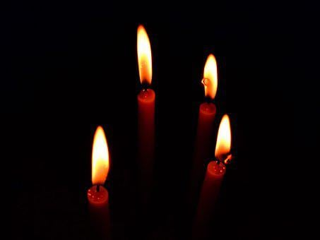 Candles, Light, Flame, Dark, Candlelight, Glowing