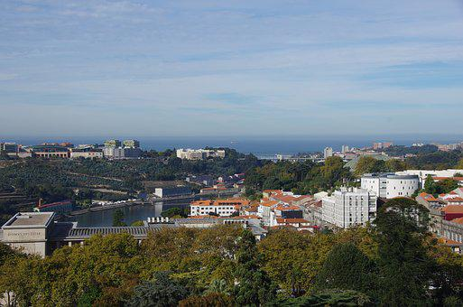 Porto, City, Douro River, Atlantic Ocean