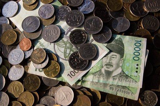 Don, Coin, Cash, Money, Korea Money, Currency, Krw