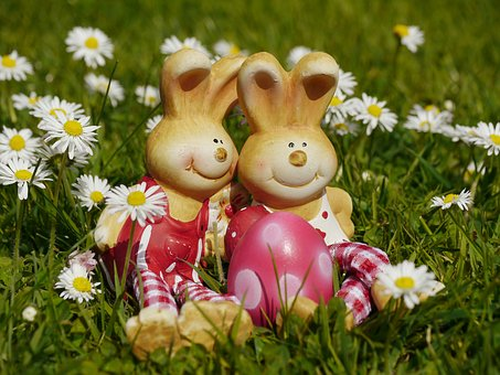 Easter, Easter Bunny, Easter Decoration, Figure, Pair