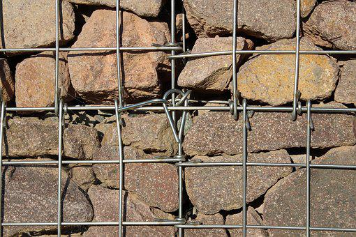 Stones, Stone, Gabion, Gabions, Porphyry, Grid