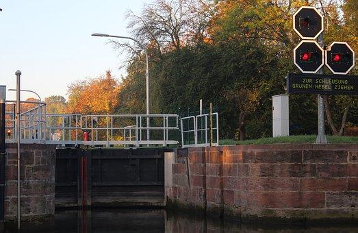 Lock, Waterway, Shipping, Water, Gates, Technology