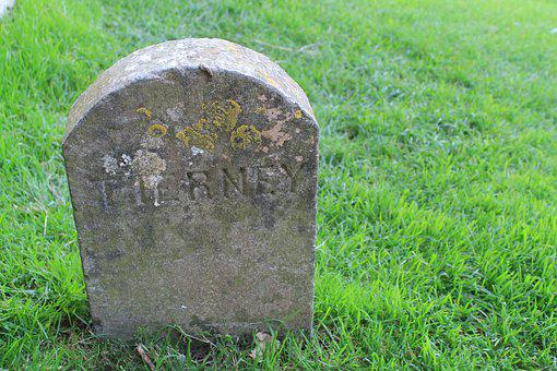 Headstone, Rip, Tombstone, Graveyard