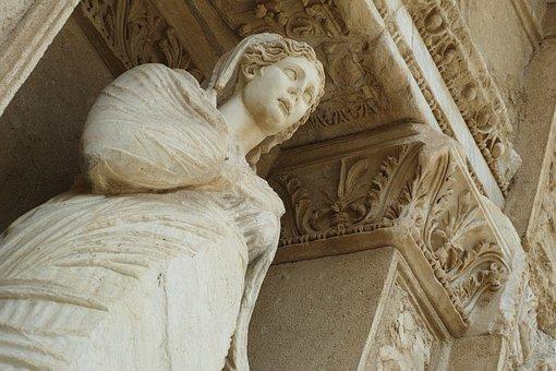 Sculpture, Efes, Turkey, On, Kusadasi, Rome, Hellenic
