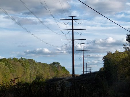 High Voltage, Electricity, High, Voltage, Lines