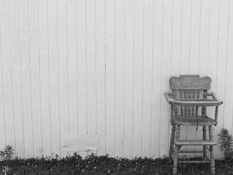 Highchair, Vintage, Antique, Wooden, Home, Furniture
