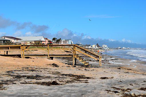 Beach Landscape, Hurricane Irma, Debris, Nature, Ocean