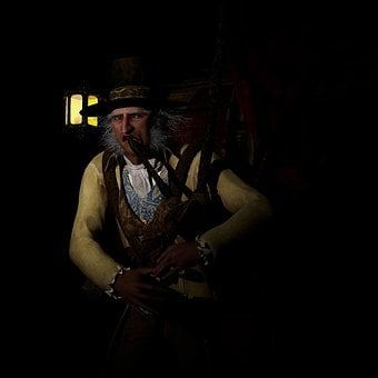 Bagpipes, Steampunk, Lantern, Scary