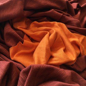 Autumn, Textile, Material, Fabric, Orange, Rust