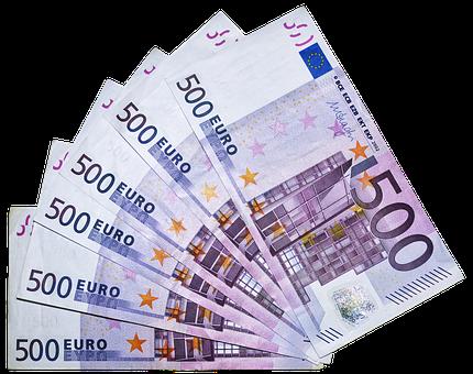 Euro, Money, Bills, 500 Euro, Currency, Paper Money