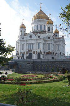 Moscow, Cathedral, White, Russian Orthodox Church