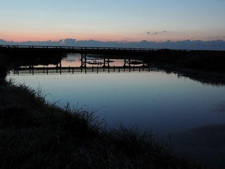 Morgenstimmung, Water, Sunrise, Nature, Landscape