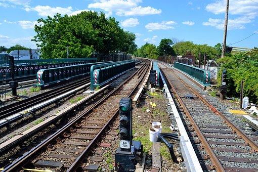 Train Tracks, Metro, New York City, Railroad, Railway
