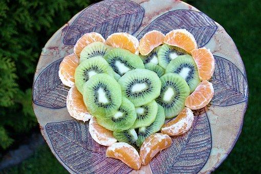 Heart, Kiwi, Mandarin, Salad, Healthy Food, Vitamins