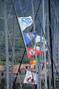 Flags, Boat, Sailing, Ship, Travel, Tourism, Symbol