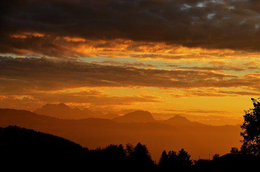 Sun, Sunset, Abendstimmung, Setting Sun, Sky, Clouds