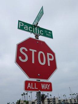 Stop, Sign, Street, Symbol, Warning, Road, Traffic