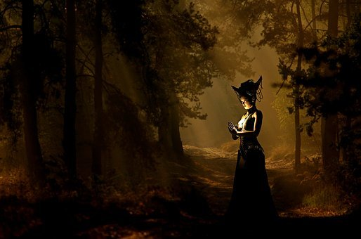 Woman, Sorceress, The Witch, Forest, Mystical