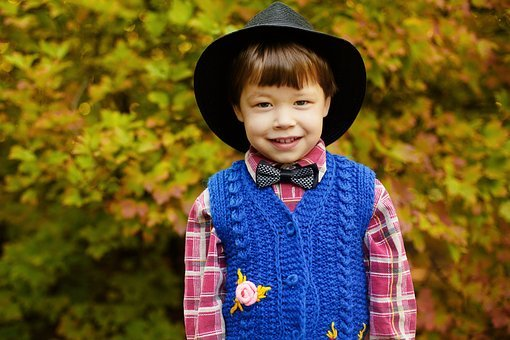 Boy, Gentleman, Felix, Hat, Tie, Shirt, Nature