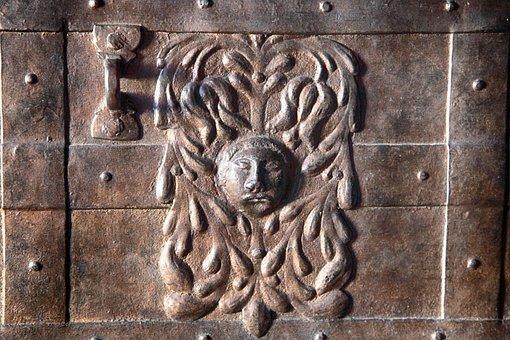 Treasure Chest, Iron, Old, Castle, Ornament, Fitting