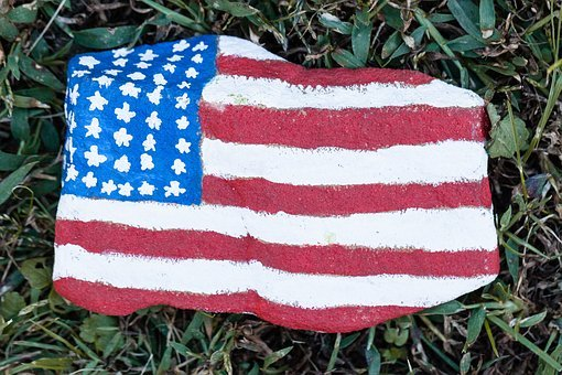Usa, United States, Rock, Painted Rock, Painted