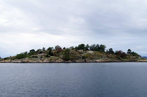 Norway, Son, Rock, Fjord, Water, Scandinavia, Nature