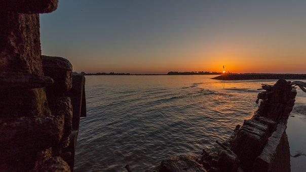 Hamburg, Beach, Blankenese, Port Of Hamburg, Water