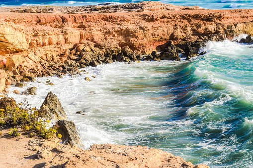Rocky Coast, Cliff, Sea, Landscape, Waves, Rough Sea