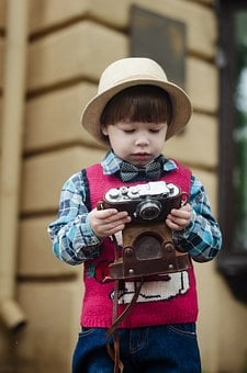 Camera, Rain, Street, Wet, Weather, Boy, Kids, Kid