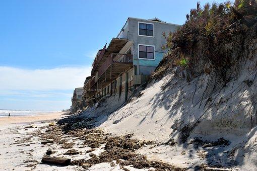 North Beach, Florida, Beach Erosion, Damage