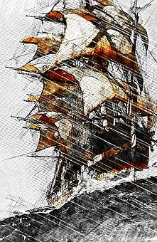 Sailing Ship, Mast, Boat, Sea, Sailboat, Transportation