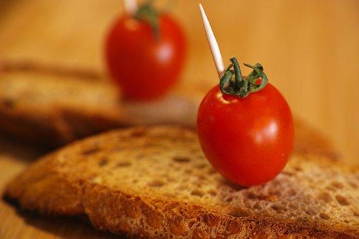 Bread, Tomato, Snack, Breakfast, Red, Food, Macro