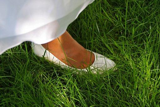 Brautschuhe, Bride, Wedding, Shoes, Elegant, White