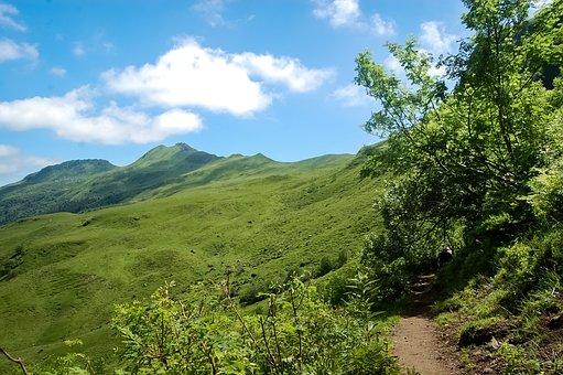 Auvergne, Cantal, Mountain, Landscape, Cliff
