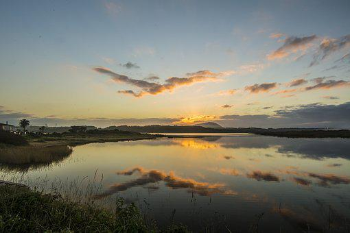 Clouds, Lake, Laguna, Sunset, Holiday, Nature, Sky