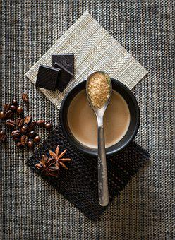 Coffee, Coffee Cup, Spoon, Spices, Anise