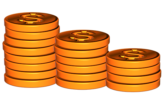 Coins, Coin Pile, Stack Coins, Currency, Cash, Stack
