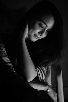 Black, Darkroom, Girl
