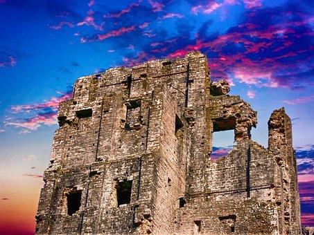 Castle, Ruin, Historical, Fortress, Historic, History